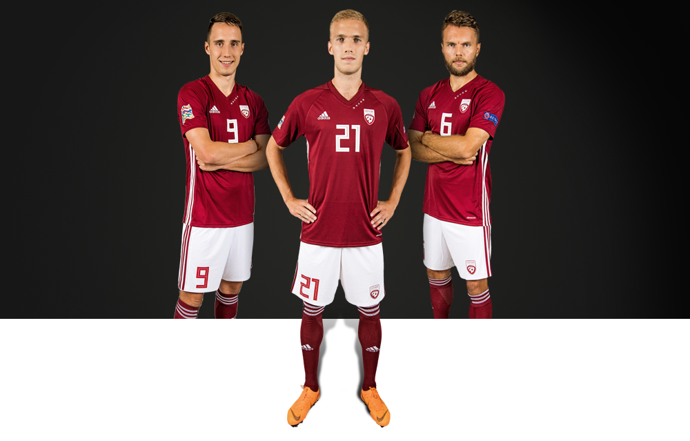 Latvijas futbola izlases spēļu krekls ( 2018.gada model)