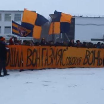 """Lietuvas futbola kluba """"Banga"""" fani protestē un padzen krievu investorus (+video)"""