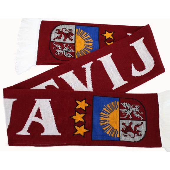 Liela adīta fanu šalle ''Latvija''