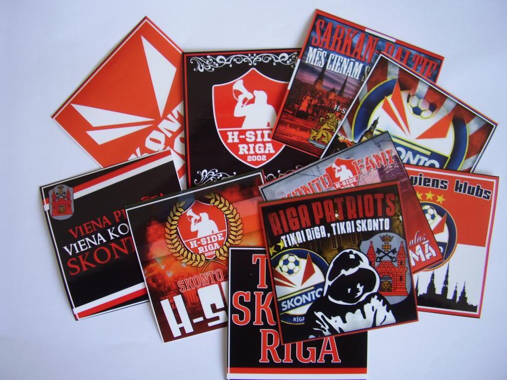 SKONTO FC un H-SIDE uzlīmes
